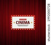cinema theatre frame and red... | Shutterstock .eps vector #1992000728