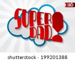 abstract red inscription super... | Shutterstock .eps vector #199201388
