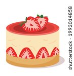 delicious cheesecake with... | Shutterstock .eps vector #1992014858
