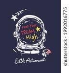 little astronaut calligraphy... | Shutterstock .eps vector #1992016775