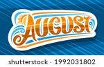 vector logo for august ... | Shutterstock .eps vector #1992031802