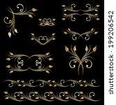 vector set of borders ...   Shutterstock .eps vector #199206542