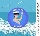 Boy In A Sailor's Cap  Waves ...