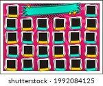 comic photo frame for group... | Shutterstock .eps vector #1992084125