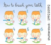 instructions on how to brush... | Shutterstock .eps vector #199210592
