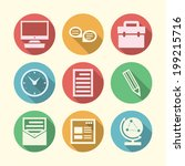vector icons for freelance and... | Shutterstock .eps vector #199215716