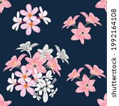 Seamless Pattern Floral With...