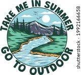 t shirt summer outdoor nature... | Shutterstock .eps vector #1992166658