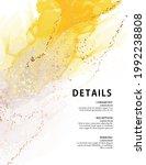 yellow texture watercolor ink...   Shutterstock .eps vector #1992238808