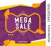 mega sale banner design. mega... | Shutterstock .eps vector #1992267035