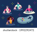 gamers video game control and... | Shutterstock .eps vector #1992292472