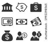 financial icon set. money  bank ... | Shutterstock .eps vector #1992298565