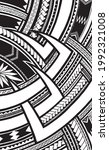 polynesian ornament tattoo... | Shutterstock .eps vector #1992321008