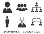 set of icons of business people ... | Shutterstock .eps vector #1992342128