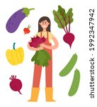 vector poster with agricultural ...   Shutterstock .eps vector #1992347942