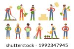flat cartoon vector...   Shutterstock .eps vector #1992347945