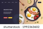 pan with scrambled eggs and... | Shutterstock .eps vector #1992363602