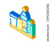 water and milk  tea and juice... | Shutterstock .eps vector #1992365282