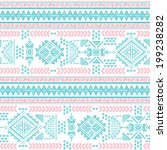 tribal vintage ethnic seamless...   Shutterstock .eps vector #199238282