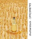 wheat oil wheat field  vector...   Shutterstock .eps vector #1992398795