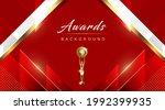 red maroon white golden awards... | Shutterstock .eps vector #1992399935