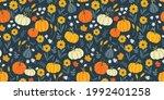 lovely hand drawn thanksgiving... | Shutterstock .eps vector #1992401258