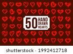 hand drawn hearts vector logos...   Shutterstock .eps vector #1992412718