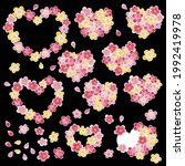 heart shaped cherry blossom... | Shutterstock .eps vector #1992419978
