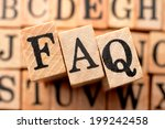 logo for faq | Shutterstock . vector #199242458
