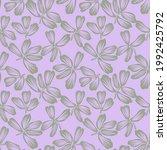 purple floral brush strokes...   Shutterstock .eps vector #1992425792