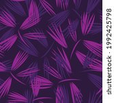 purple floral brush strokes...   Shutterstock .eps vector #1992425798