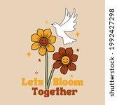 lets bloom together slogan...   Shutterstock .eps vector #1992427298