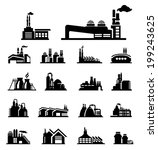 factory icon vector | Shutterstock .eps vector #199243625