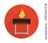 barbecue icon on a white... | Shutterstock .eps vector #1992447578