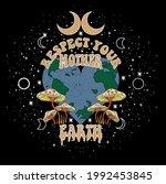 70's retro groovy slogan print...   Shutterstock .eps vector #1992453845