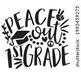 peace out 1st grade background...   Shutterstock .eps vector #1992459275