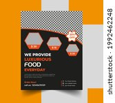 food flyer design template... | Shutterstock .eps vector #1992462248