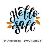 hello fall. brush hand...   Shutterstock .eps vector #1992468515