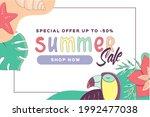 summer sale banner template....   Shutterstock .eps vector #1992477038