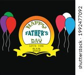 happy father's day greeting...   Shutterstock .eps vector #1992477092