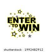 enter to win sign on white...   Shutterstock .eps vector #1992482912