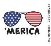 america sunglasses 4th jylt... | Shutterstock .eps vector #1992485258