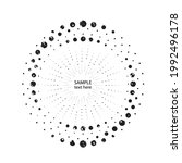 textured halftone dots in...   Shutterstock .eps vector #1992496178