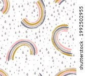 simple painted rainbows and...   Shutterstock .eps vector #1992502955