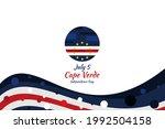 july 5  cape verde independence ...   Shutterstock .eps vector #1992504158