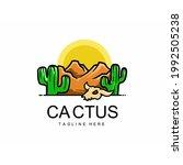 elements desert cactus logo... | Shutterstock .eps vector #1992505238