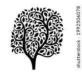beautiful abstract black tree... | Shutterstock .eps vector #1992506078