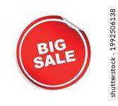 big sale tag design vector...   Shutterstock .eps vector #1992506138