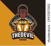 elements devil book mascot logo | Shutterstock .eps vector #1992507002