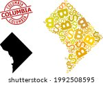 rubber columbia stamp seal  and ... | Shutterstock .eps vector #1992508595